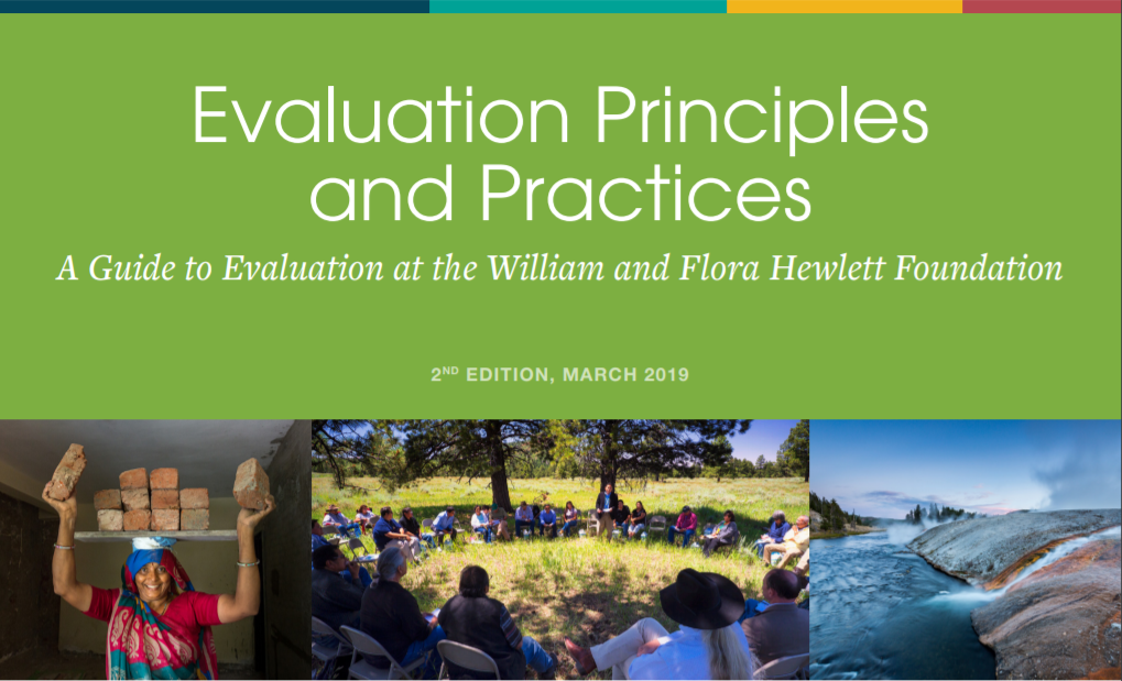 Evaluation Principles and Practices cover