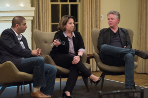 The Former Homeland Security Adviser Lisa Monaco discusses the private and public sector views on cyber threat actors with Matthew Prince, Chief Executive Officer of Cloudflare, and Jamil Jaffer, Founder & Executive Director of the GMU National Security Institute
