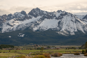 Stanley, Idaho and Sawtooth Mountains.