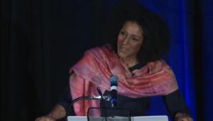 Sarah Jones performing in Foundation
