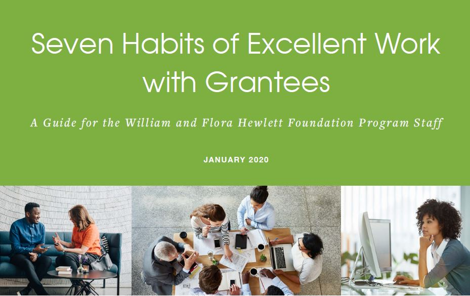 Seven Habits of Excellent Work with Grantees Guide