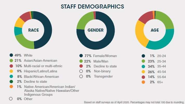 2019 staff demographics