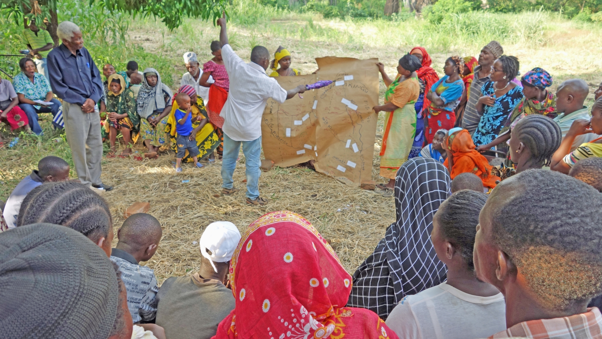 community climate vulnerability assessment meeting in Tanzania